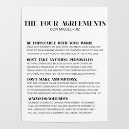 the four agreements Poster