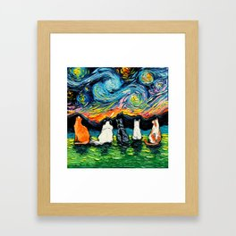 Starry Cats Framed Art Print