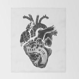 Heart (stay wild) Throw Blanket
