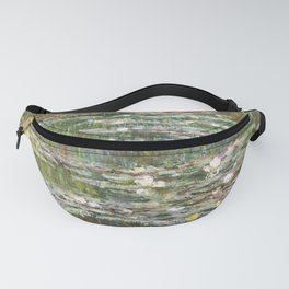 Bridge over a Pond of Water Lilies by Claude Monet Fanny Pack
