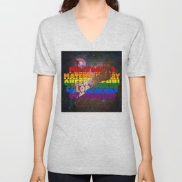 Fully Automated Luxury Queer Technicolor Space Communism (ver. 2.0) Unisex V-Neck