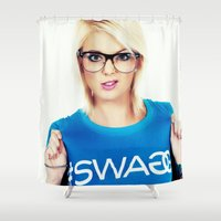 swag Shower Curtains featuring Swag by Taylor Brynne-Model