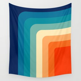 80s Vintage palette Wall Tapestry