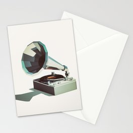 Lo-Fi goes 3D - Vinyl Record Player Stationery Cards