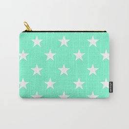 Stars (White/Aquamarine) Carry-All Pouch
