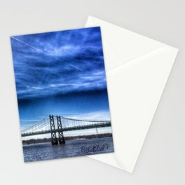 Interstate 74 Bridge on Mississippi River Stationery Cards