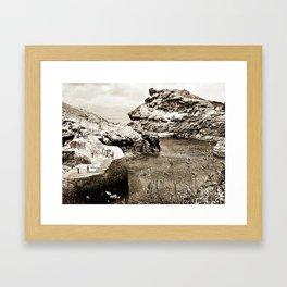 Boscastle, village Framed Art Print