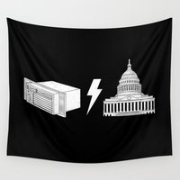 dc Wall Tapestries featuring Literal AC/DC by Phil Jones