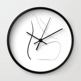 """""""She meditates"""" Wall Clock"""