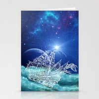 neverland Stationery Cards featuring To Neverland by Cat Milchard