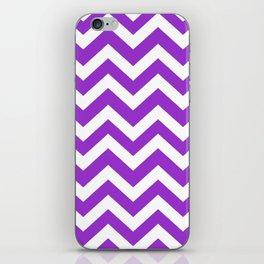 Dark orchid - violet color - Zigzag Chevron Pattern iPhone Skin