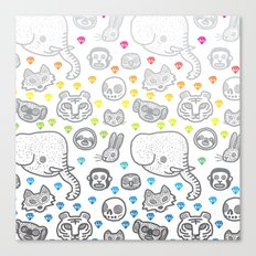 Hypno Animals Canvas Print