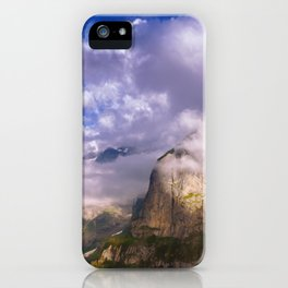 Good Evening in the Alps iPhone Case