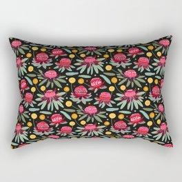Waratahs & Craspedia Rectangular Pillow