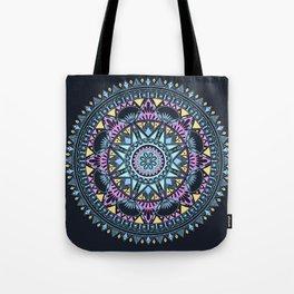 Blue Bohohemian Pattern Tote Bag