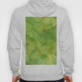 Watercolor lime green abstract hand painted pattern Hoody
