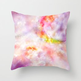 Abstract Magenta Cosmos Throw Pillow