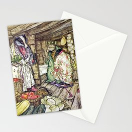 Arthur Rackham - The Wind in the Willows (1940) - Badger's winter stores Stationery Cards