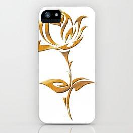Golden tribal flower iPhone Case