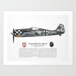 Fw 190 A-5 - Bernhard Kunze Art Print