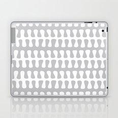 Seaweed Strand grey & white Laptop & iPad Skin