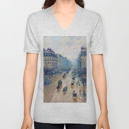 Camille Pissarro - Avenue De L'opera, Effect Of Snow In The Morning - Digital Remastered Edition Unisex V-Neck
