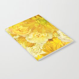 Yellow Rose Bouquet with Gerbera Daisy Flowers Notebook