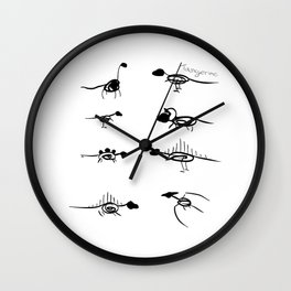 Scribble Dinos Wall Clock