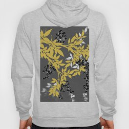 TREE BRANCHES YELLOW GRAY  AND BLACK LEAVES AND BERRIES Hoody