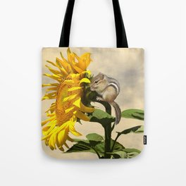 Waiting for the Sunflower Tote Bag