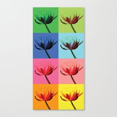 Flowers, Warhol Style Canvas Print