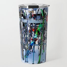 Ski Party - Skis and Poles Travel Mug