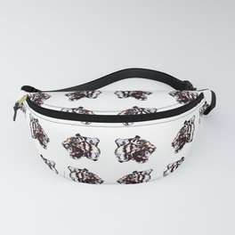 Large Graphic Tiger Print Fanny Pack