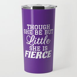 Little & Fierce (Purple) Travel Mug