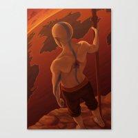 aang Canvas Prints featuring Aang by BBANDITT