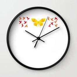 Paper Origami Crane Bird Heart Motive for a Hobbyists Wall Clock