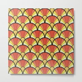 Radiant Sunshine Art Deco Pattern Metal Print