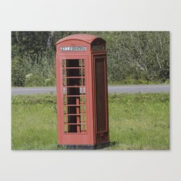 English Phone Booth Canvas Print