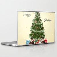 christmas tree Laptop & iPad Skins featuring Christmas Tree by haroulita