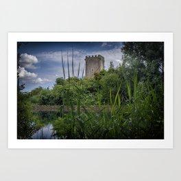 The tower of Ninfa Art Print