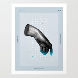 The Left hand Art Print
