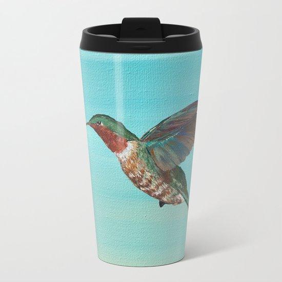 Hummingbird on the Move Metal Travel Mug