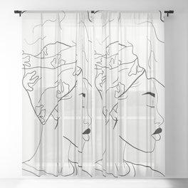 HEAD WRAP Sheer Curtain