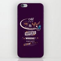 risa rodil iPhone & iPod Skins featuring Time and Space by Risa Rodil