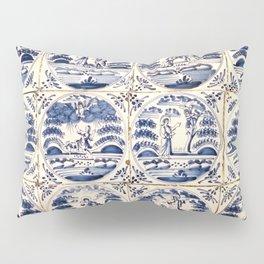 Dutch Delft Blue Tiles Pillow Sham