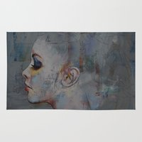 ballerina Area & Throw Rugs featuring Ballerina by Michael Creese