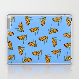 Pepperoni Pizza Dripping Cheese by the Slice Pattern (light blue) Laptop & iPad Skin