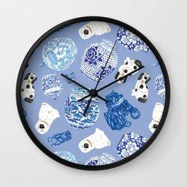 Chinoiserie Curiosity Cabinet Toss 7 Wall Clock
