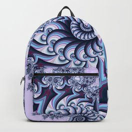 Owl Fractal Blueberry Backpack