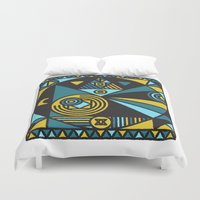 fullmetal alchemist Duvet Covers featuring Witchcraft Alchemist by thedeadprocession